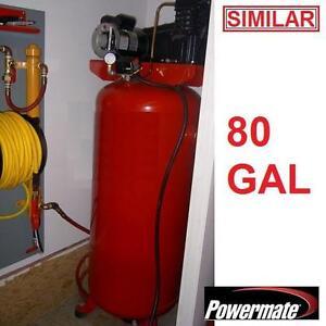 NEW POWERMATE 80 GAL AIR COMPRESSOR 230 VOLT 155 MAX PSI 80 GALLON 4.7 HP COMPRESSORS INDUSTRIAL TOOLS PNEUMATICS