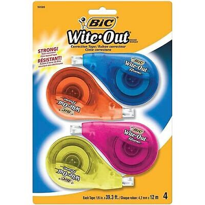 Bic White-out Brand Ez Correct Correction Tape 4 Pack Bic Wite Out New Sealed