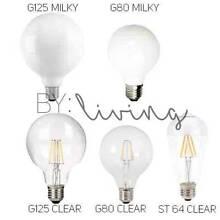 Edison E27 LED filament globe clear milky bulb warm white vintag Oakleigh Monash Area Preview