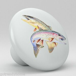 Fish cabinet knobs ebay for Fish drawer pulls