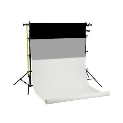 Fotostudio Hintergrund System inkl 3 Papier Hintergrundrollen  BSK-3P #B562595