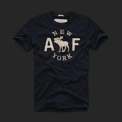 Abercrombie Men by Hollister Sueded Cotton T-Shirt Navy S, M, L, XL, XXL
