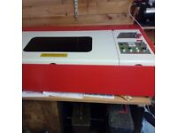 Laser Cutter HPC laser 60 30 with computer and stock
