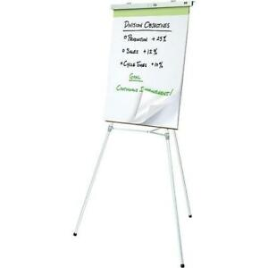 NEW Staples Dual Purpose Adjustable Lightweight Aluminum Easel Telescoping 38 to  66 great Flipchart Pad Retainer
