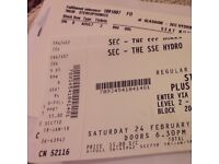 STEREOPHONICS TICKETS (2) GLASGOW SEC HYDRO, SAT 24 FEB