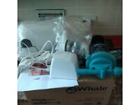 whale shower waste pump and fittings with transformer