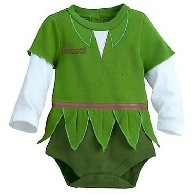 PETER PAN~Baby~BODYSUIT with CAP~COSTUME~Cotton~Infant~0-24M~Disney Store-2017 (Baby Costumes 2017)