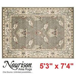 "NEW NOURISON WALDEN 5'3"" x 7'4"" RUG GREY MULTI RECTANGLE AREA RUGS CARPET CARPETS FLOORING DECOR ACCENTS MAT MATS"