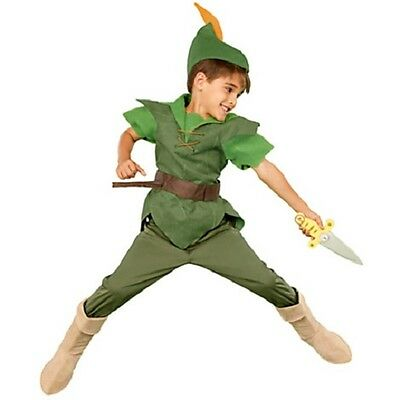 PETER PAN~DELUXE~Costume+Hat+Shirt+Pants+Boot+Bow+Arrows+Dagger~NWT~Disney Store ()