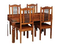Jali Dining Table & 4 Chairs