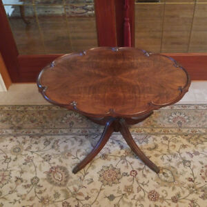 Gibbard Tilt Top Table Book Matched Walnut