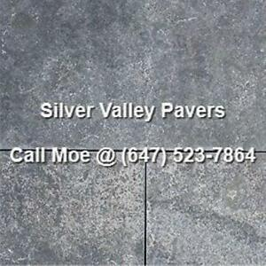 Silver Valley Flagstone Pavers Limestone Square Cut Paving Stone