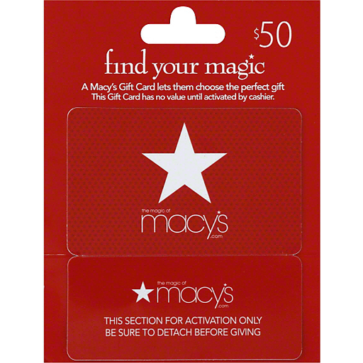 50.00 Macys Gift Card - New Never Been Used - $43.58