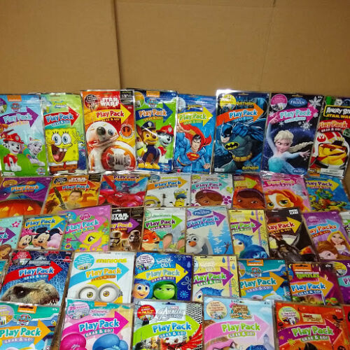 100 Play Pack Coloring Book Crayons Stickers Grab Go Samaritan's Purse Shoebox