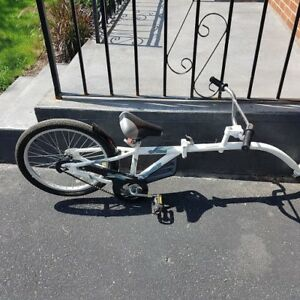 Rear child bike with extender