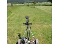 Powakaddy Electric Golf Trolley with umbrella holder & new battery charger