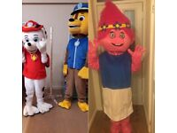 ## FOR HIRE KIDS PARTIES POPPY TROLLS PAW PATROL CHASE & MARSHALL MASCOTS COSTUMES ##