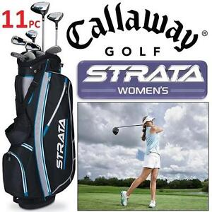 NEW 11PC CALLWAY WOMENS GOLF SET LH Strata, 11-Piece Women's Golf Set -  LEFT HAND 104003415