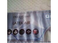Dreamland Latex AIR single mattress brand new