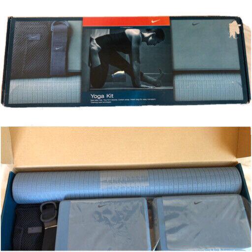 Nike Yoga Kit Mat Blocks Cotton Strap Mesh Bag Yoga & Pilates Workouts
