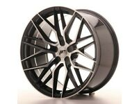 """20"""" Staggered Japan Racing JR28 Wheels & Tyres for a BMW 5 Series"""