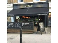 ESTABLISHED SUSHI BAR, TAKE AWAY AND DELIVERY FOR SALE IN CLAPHAM