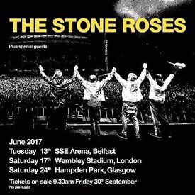 Stone Roses tickets - Face Value