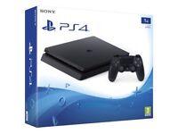 PS4 1tb jet black