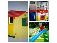 Little Tykes Play House, Kitchen and Slide.