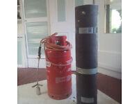 FLO Gas container & Torch Burner Regulator PLUS 3 Rolls Fix-R Capsheet Black Mineral Roofing Felt