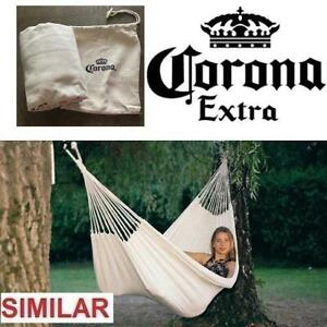 NEW CORONA BEER HAMMOCK 252240647 WITH SLEEVE CARRY CASE 200x80cm 120kg CAPACITY