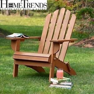NEW HOMETRENDS ADIRONDACK CHAIR - 120550856 - FOLDS FOR EASY STORAGE SOLID WOOD SEATING
