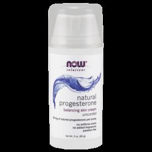 Now Foods Natural Progesterone Liposomal Skin Cream 20 MG 3 Oz