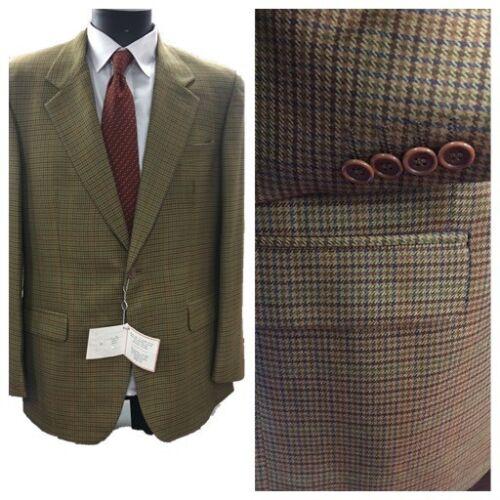 Giacca blazer quadretti da uomo lana cashmere tweed sartoriale 50 regolare abito