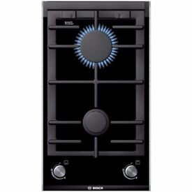 NEW BOSCH BUILT-IN DOMINO GAS ON GLASS HOB REF: 31307