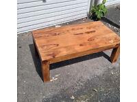 teak large coffee table