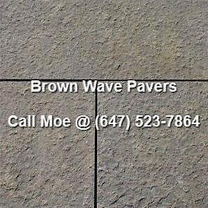 Brown Wave Flagstone Pavers Brown Oak Square Cut Paving Stones