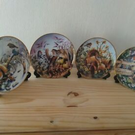 Four Seasons of Robins collectors plates