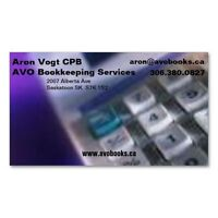 AVO Bookkeeping Services, Aron Vogt CPB, 306.380.0827