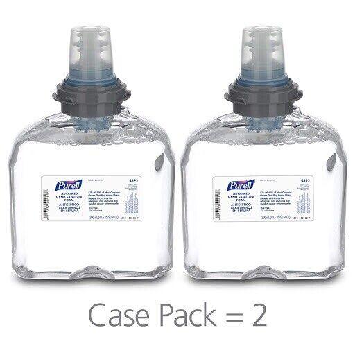 2Purell TFX Dispenser 5392-02 Foam Refill 1200ml Expire 2023