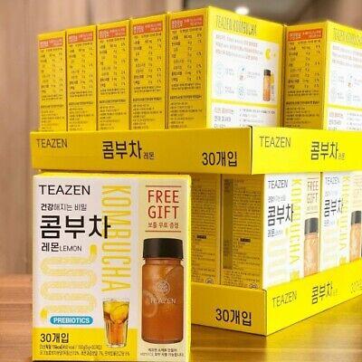 TEAZEN Kombucha Lemon Powder Stick 5g X 30T with Bottle Gift Made in Korea BTS