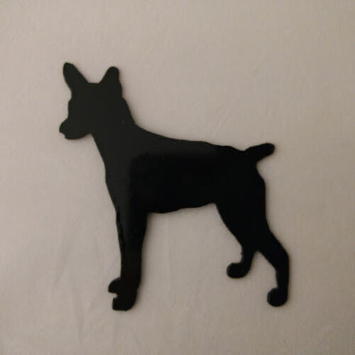 Rat Terrier Refrigerator magnet black silhouette Made in the USA