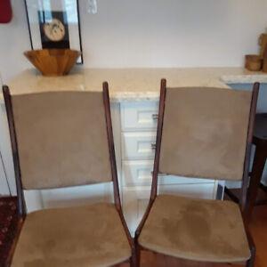 beautiful teak dining chairs, pair