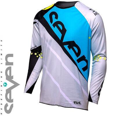 Camiseta Motocross Camiseta seven Rival Militant Blue Talla L