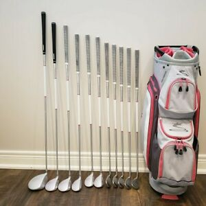 LADIES COBRA MAX RH Club set with matching golf bag. 2 years old