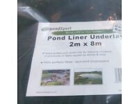 Pond expert basic pond under liner. Brand new in wrapper. Comes in 8m x 2m packs.