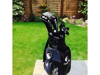 For Sale. Full set Callaway Hawkeye golf clubs, leather club & shoe bag. 13 clubs in total. Like new