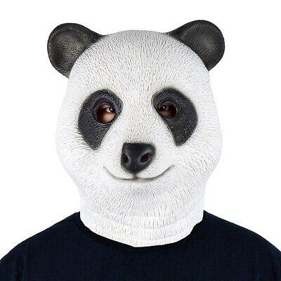 Panda Bär Maske Latex Pandamaske Bear Mask Gummimaske Erwachsene ()