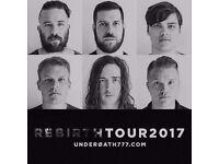 2 x tickets for Underoath @ o2 Acadmeny Bristol