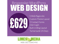 WordPress website from £629. WordPress Development, WooCommerce, SEO, Online Marketing & Training